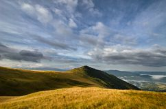 Ethereal grassy mountains Stock Images