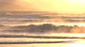 Ethereal light over cascading waves. Video of ethereal light over cascading waves stock video