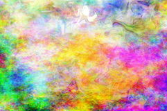 Ethereal Smoke. Trippy ethereal psychedelic background with some abstract smoke swirls stock illustration
