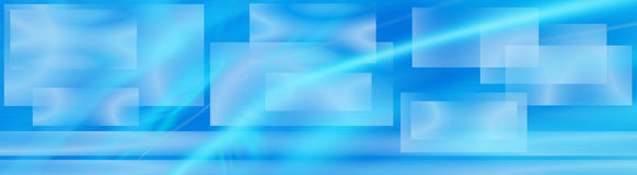 Ethereal watery banner. An ethereal banner composition with abstract squares and a watery effect, suitable for web headers and so on. Water image used is mine stock illustration