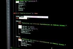Ethereum、cryptocurrency和分散制原始代码  免版税库存图片
