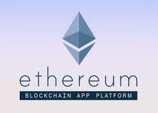 ethereum加密技术商标  免版税库存图片