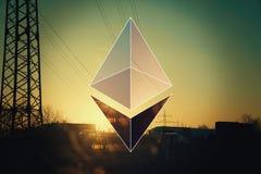 Ethereum加密概念 库存照片