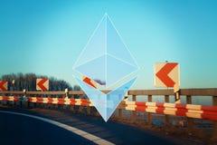 Ethereum加密概念 免版税库存照片