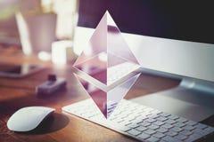 Ethereum加密概念 库存图片