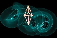 Ethereum签署黑色 免版税库存图片