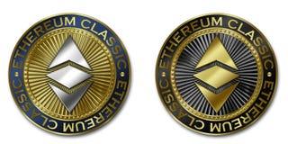 ETHEREUM ΚΛΑΣΙΚΟ νόμισμα cryptocurrency Στοκ φωτογραφία με δικαίωμα ελεύθερης χρήσης