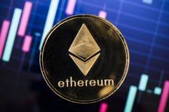 Ethereum современный путь обмена и этой секретной валюты Стоковая Фотография