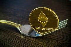 Ethereum современный путь обмена и этой секретной валюты Стоковые Фото