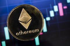 Ethereum современный путь обмена и этой секретной валюты Стоковое фото RF
