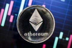 Ethereum современный путь обмена и этой секретной валюты Стоковые Фотографии RF