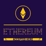 Ethereum a accepté ici illustration stock