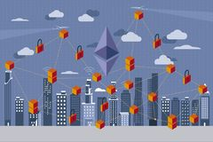 Ethereum and Blockchain Revolution Royalty Free Stock Photography