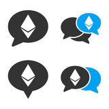 Ethereum Chat Vector Icon Set. Style is bicolor flat symbols Stock Photography
