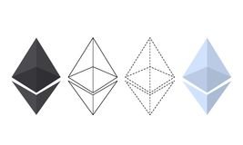 Ethereum chrystal集合例证 向量例证