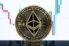 Ethereum classic is a modern way of exchange and this crypto currency royalty free stock images