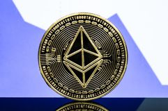 Ethereum classic is a modern way of exchange and this crypto currency royalty free stock photos