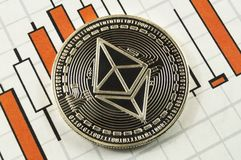 Ethereum classic is a modern way of exchange and this crypto currency. Is a convenient means of payment in the financial and web markets stock image