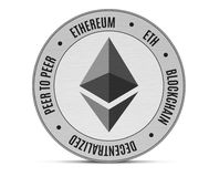 Ethereum coin isolated stock photography