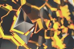 Ethereum coin logo 3D illustration. Stock Image