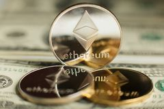 Ethereum coin Stock Photos