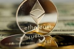 Ethereum coin Royalty Free Stock Images