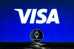 Visa Logo With Ethereum Coin Editorial Image - Image of ethereum, banking:  167925925