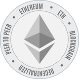 Ethereum cripto waluty klasyczna ikona Zdjęcia Royalty Free