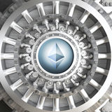 Ethereum cryoto vault Stock Photos