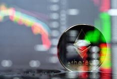 Ethereum. Crypto currency Stock Photo