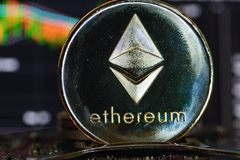 Ethereum. Crypto currency stock photography