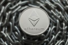 Ethereum. Crypto currency ethereum. e-currency ethereum. On the chain royalty free stock photo