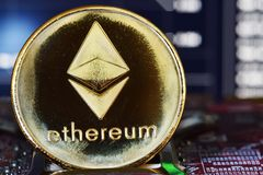 Ethereum. Crypto currency Royalty Free Stock Image