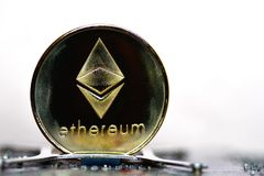 Ethereum. Crypto currency royalty free stock photo