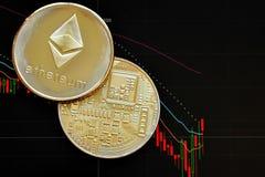 Ethereum Crypto munt stock afbeelding