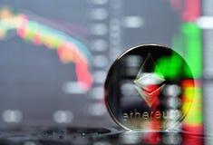 Ethereum Crypto munt stock foto