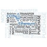 Ethereum Crypto valuta royaltyfri illustrationer