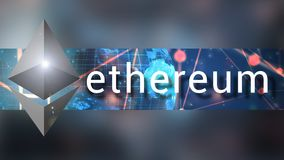 Ethereum cryptocurrency banner background illustration royalty free illustration