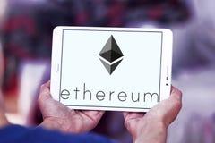 Ethereum-cryptocurrency Logo Lizenzfreie Stockfotos
