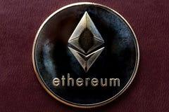 Ethereum de pièces d'or, cryptographie photos stock