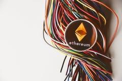 Ethereum e fios imagem de stock royalty free