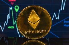 Ethereum is een moderne manier van uitwisseling en deze crypto munt stock afbeeldingen