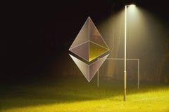 Ethereum encryption concept Royalty Free Stock Image