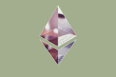 Ethereum encryption concept Royalty Free Stock Photography