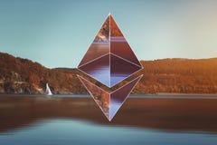 Ethereum encryption concept Stock Photo