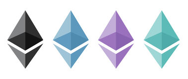 Ethereum encryption concept Stock Photography
