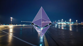 Ethereum encryption concept. Ethereum security computer encryption concept for online banking and secure payment technology stock photos