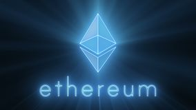 Ethereum Energy Logo. Ethereum Energy Shining Logo - also have a video loop Royalty Free Stock Photos