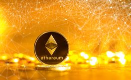 Ethereum ether coin Royalty Free Stock Image