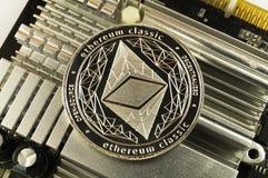 Ethereum klasyk jest nowożytnym sposobem wymiana i ten crypto waluta zdjęcie royalty free